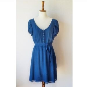 Ted Baker London Blue Silk Petal Dress